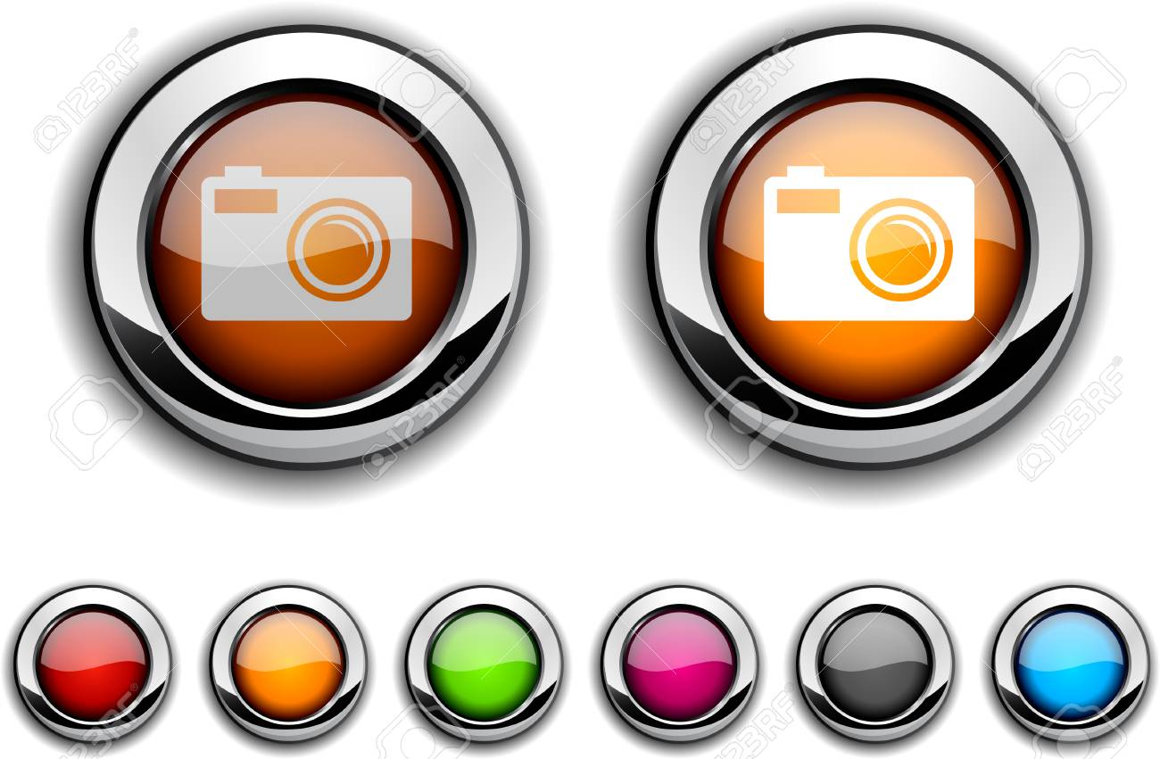 Photo realistic buttons. Vector illustration. Stock Vector - 6493269
