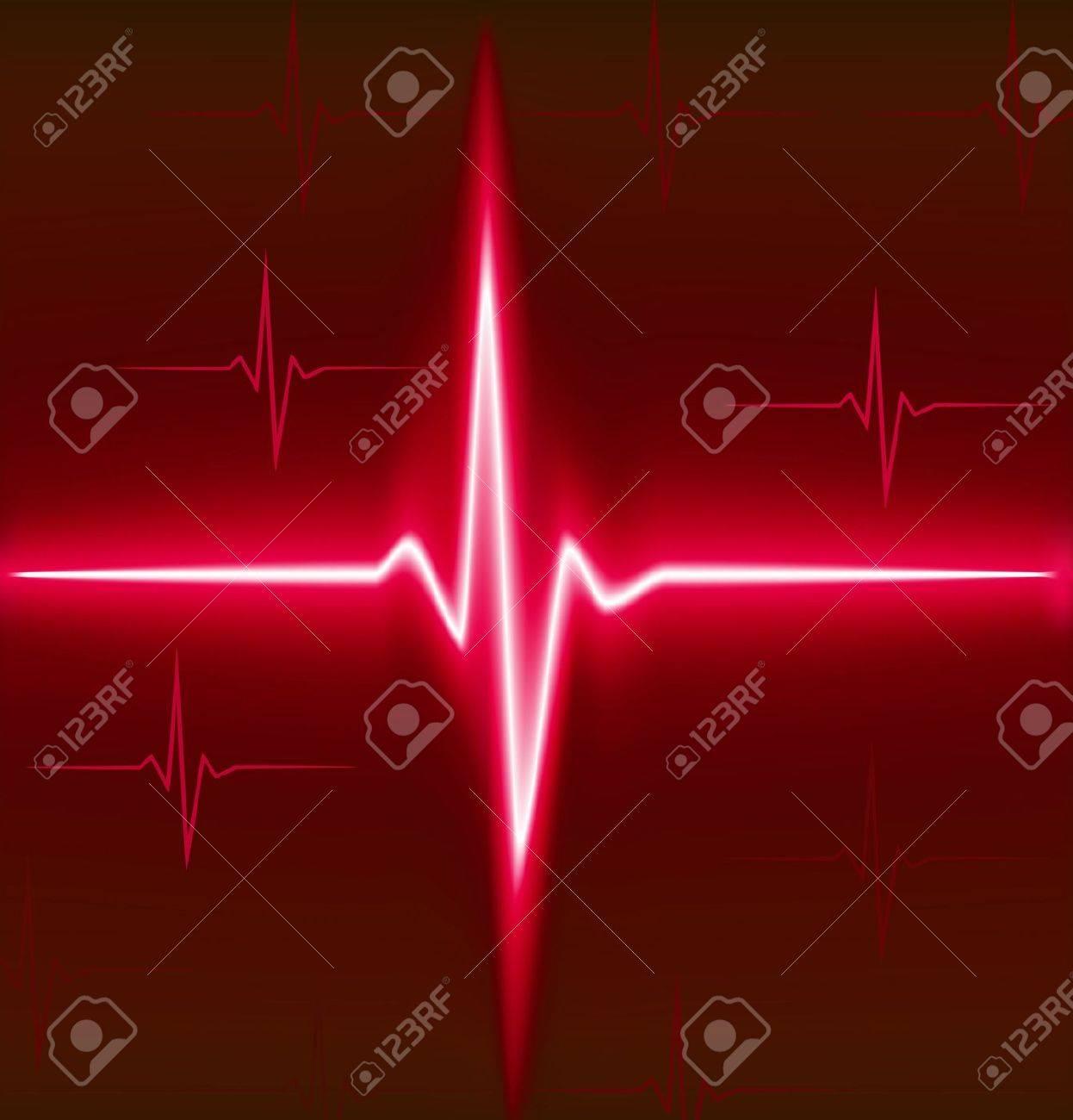 Red heart beat. Ekg graph. Stock Vector - 6771637