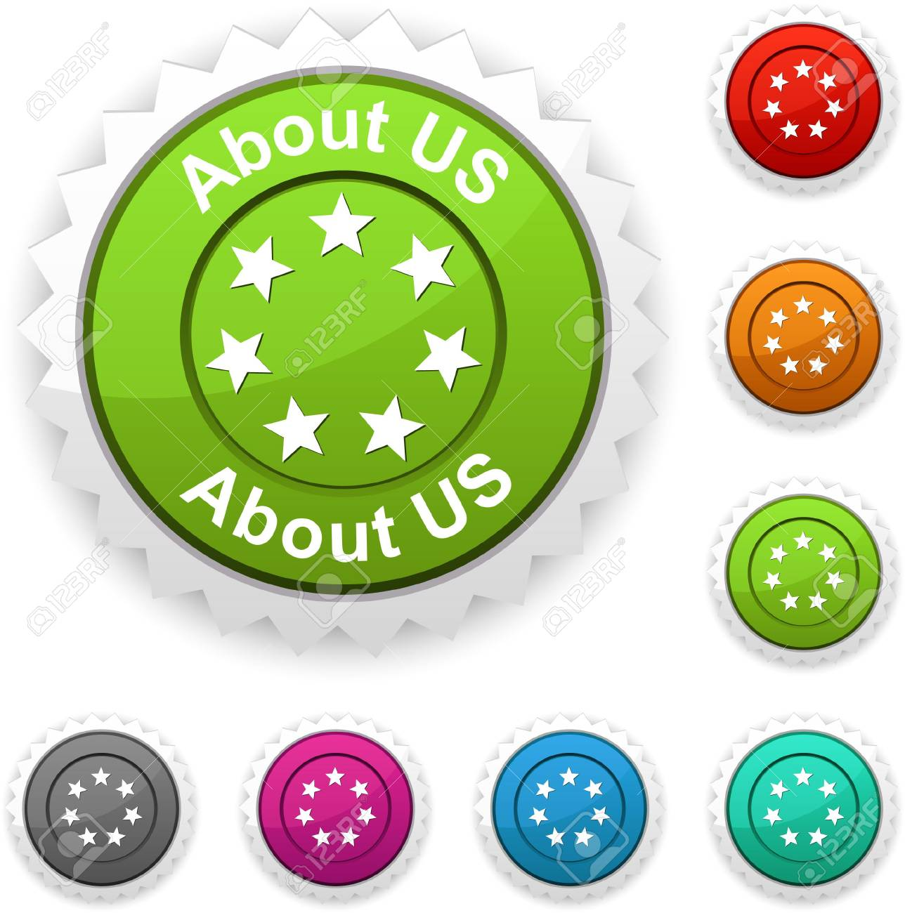 About us  award button. Stock Vector - 6771631