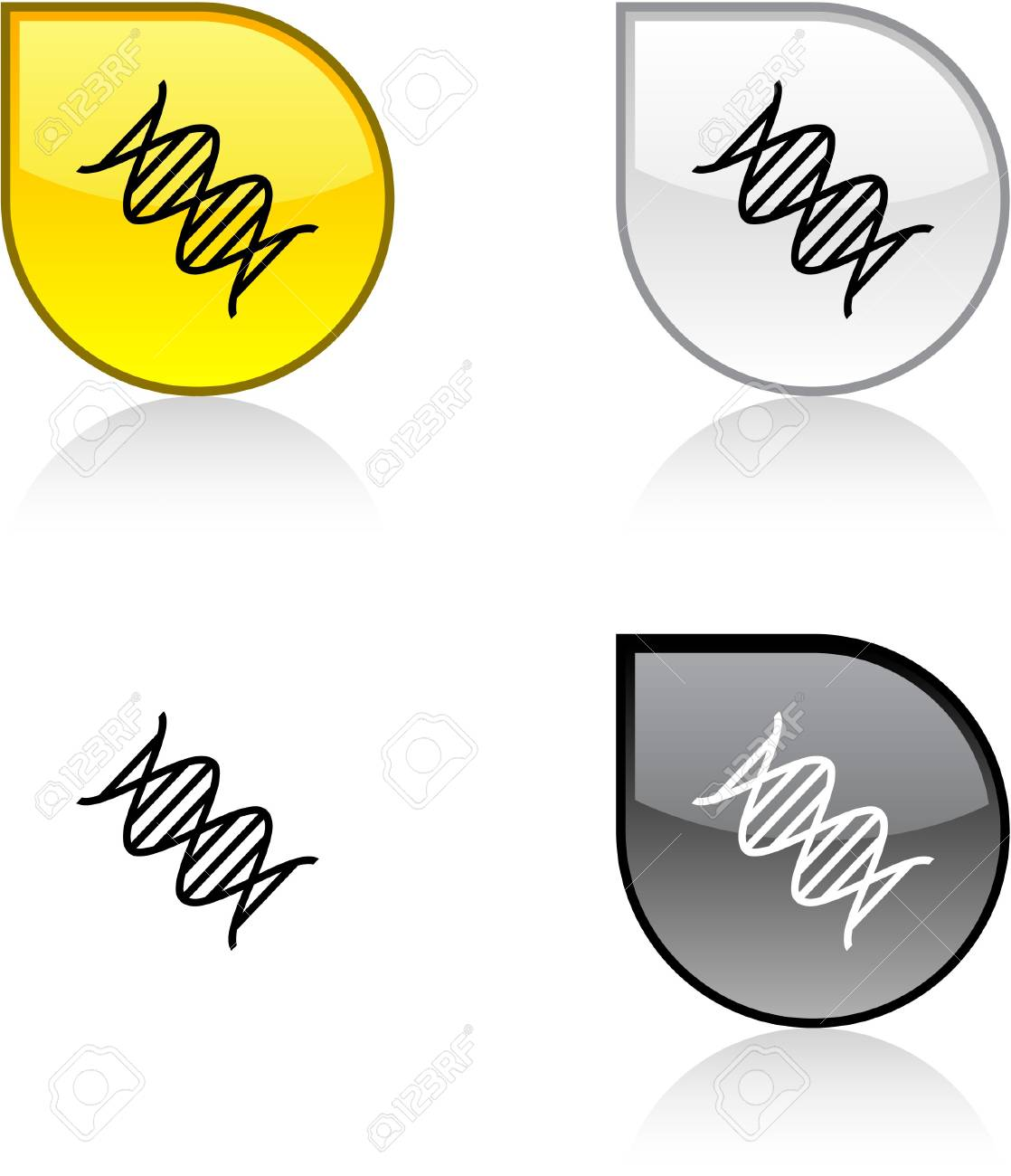 DNA glossy drop vibrant buttons. Stock Vector - 6872975