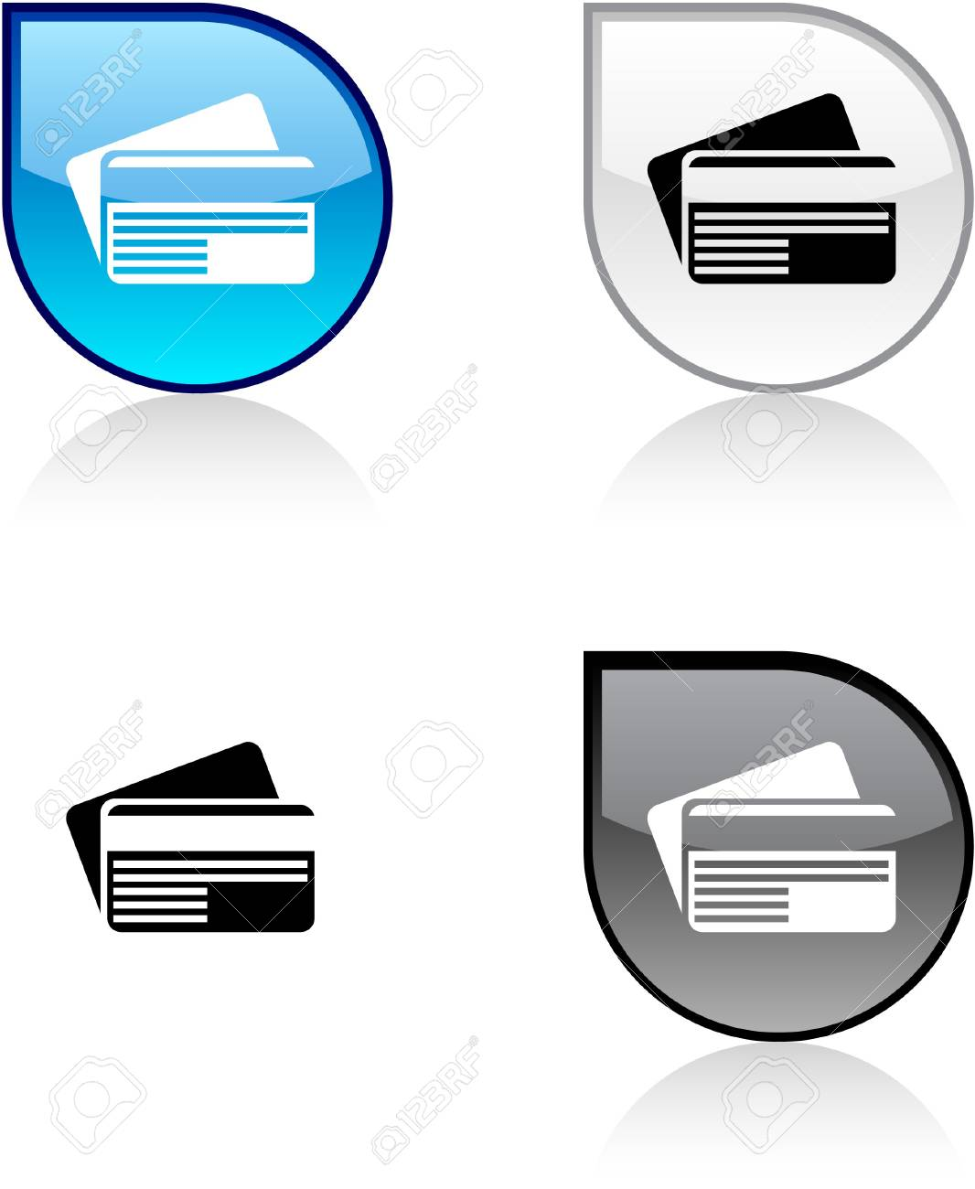 Card glossy drop vibrant buttons. Stock Vector - 6872965