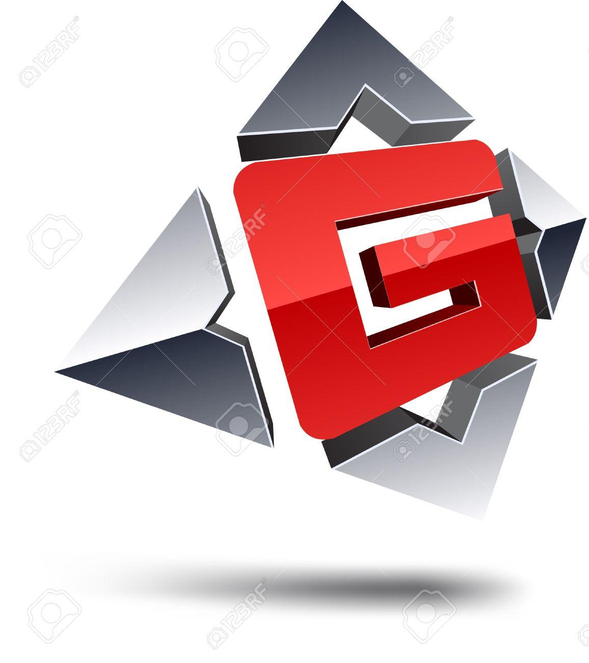 Illustration of G 3d design element. Stock Vector - 7123703