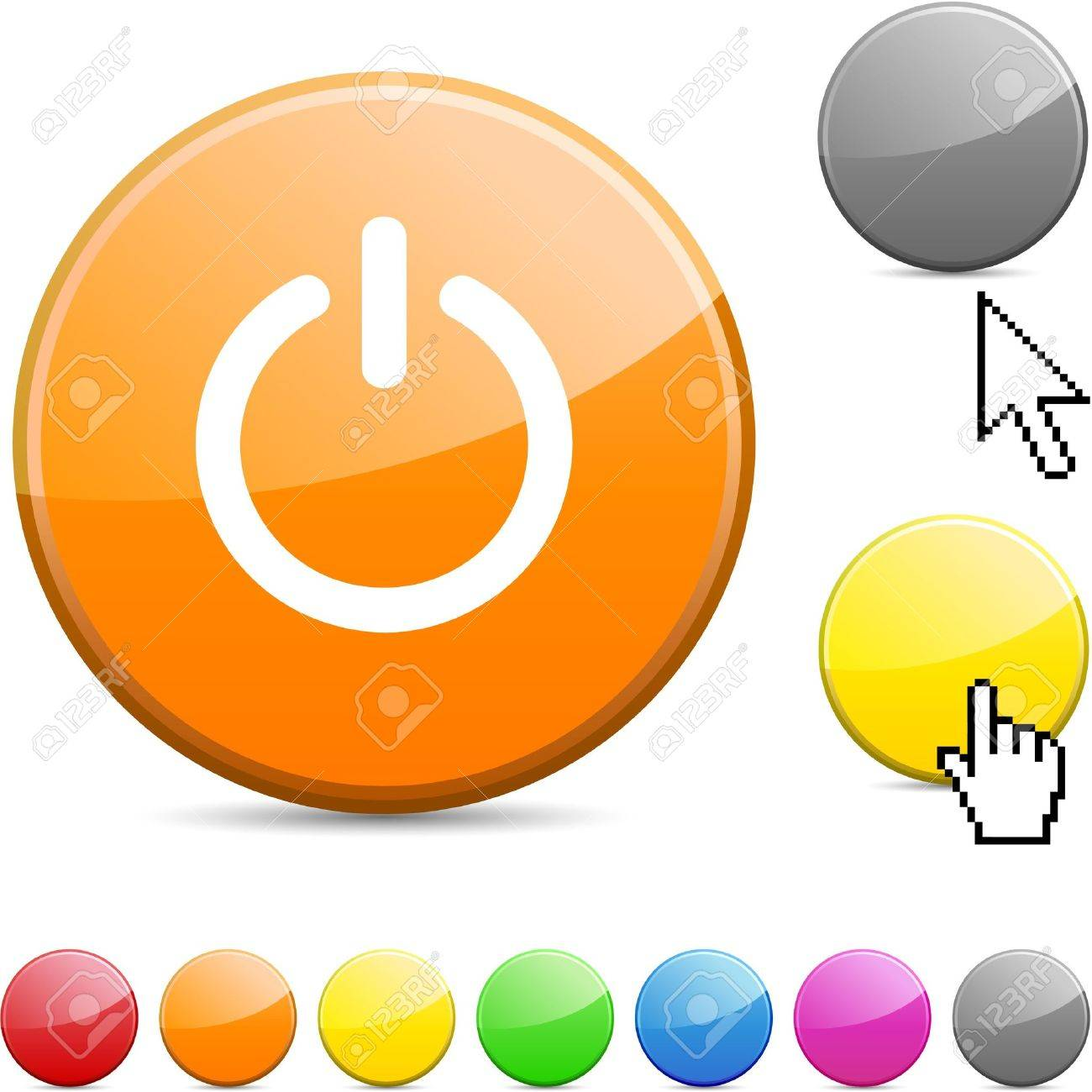 Switch glossy vibrant round icon. Stock Vector - 7156258