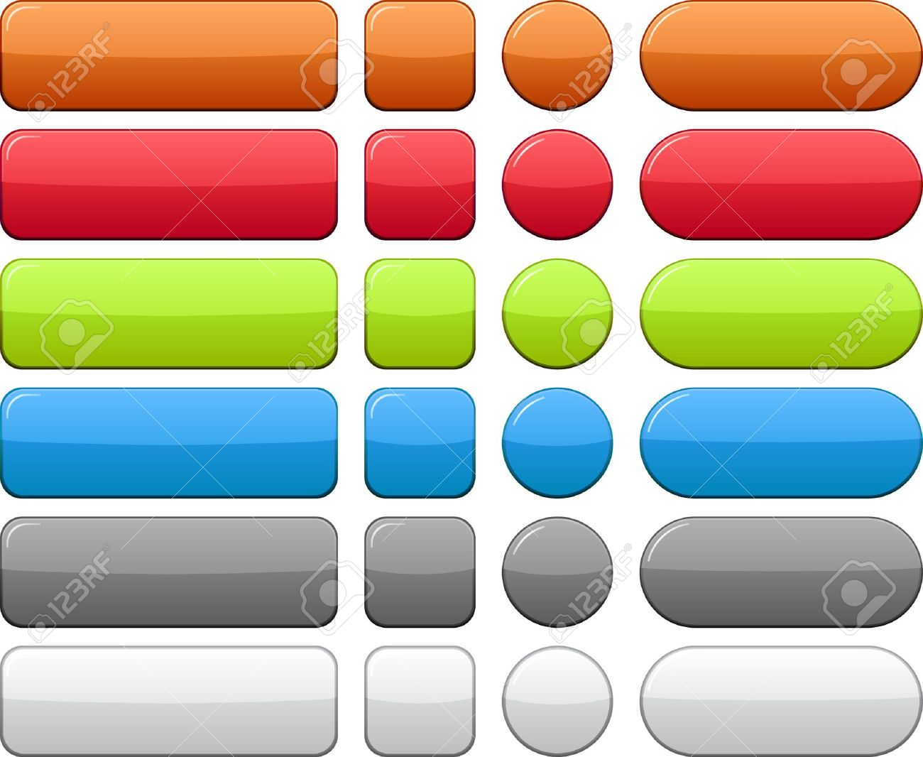 Blank web color buttons. Vector. Stock Vector - 7242336