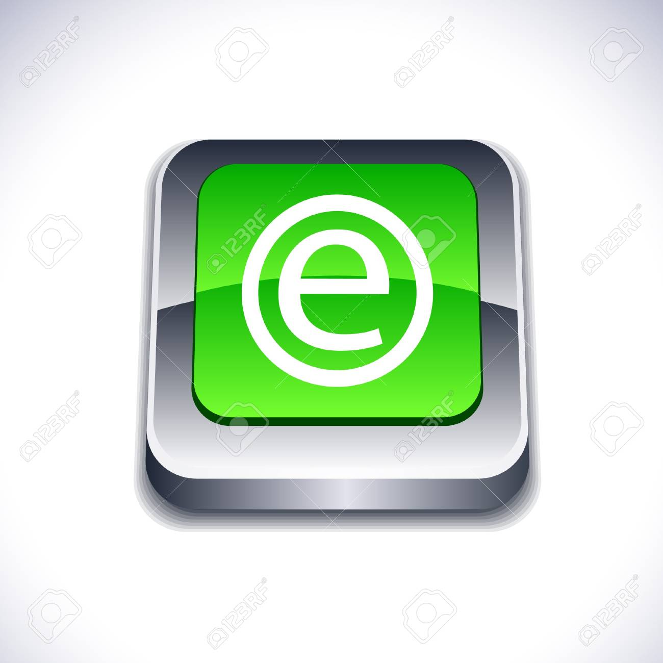 Enternet metallic 3d vibrant square icon. Stock Vector - 7286984