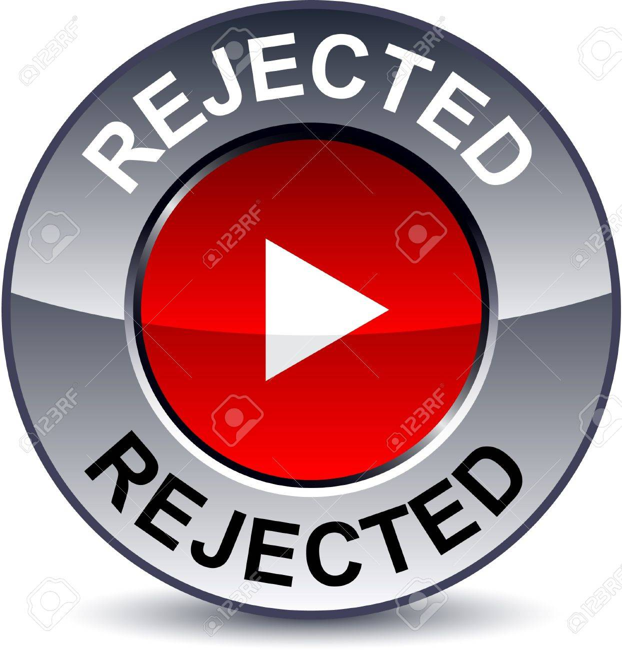 Rejected round metallic button Stock Vector - 7881220