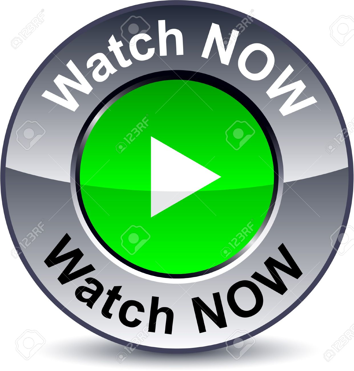 watch now round metallic button royalty free cliparts vectors and
