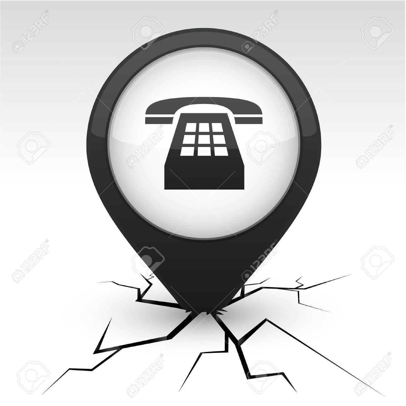 Telephone modern icon. Vector illustration. Stock Vector - 10059215
