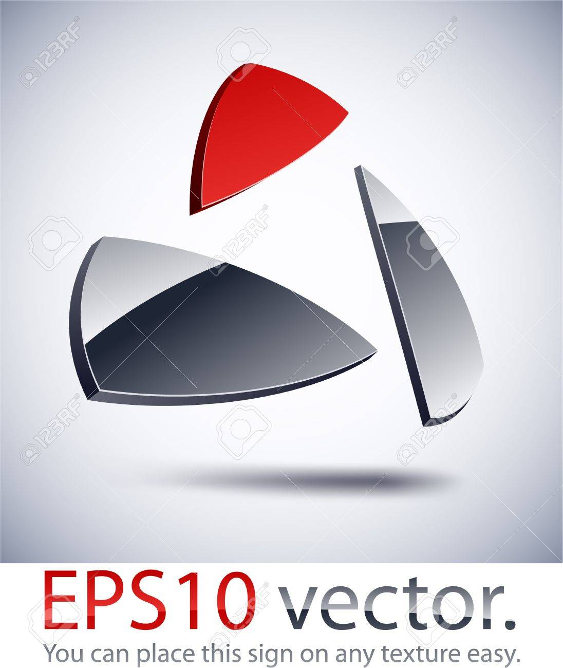 Vector illustration of 3D abstract business logo. Stock Vector - 11148937