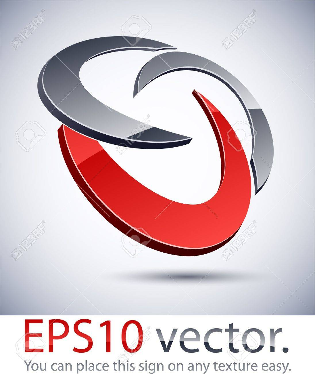 Vector illustration of 3D abstract business logo. Stock Vector - 11286345