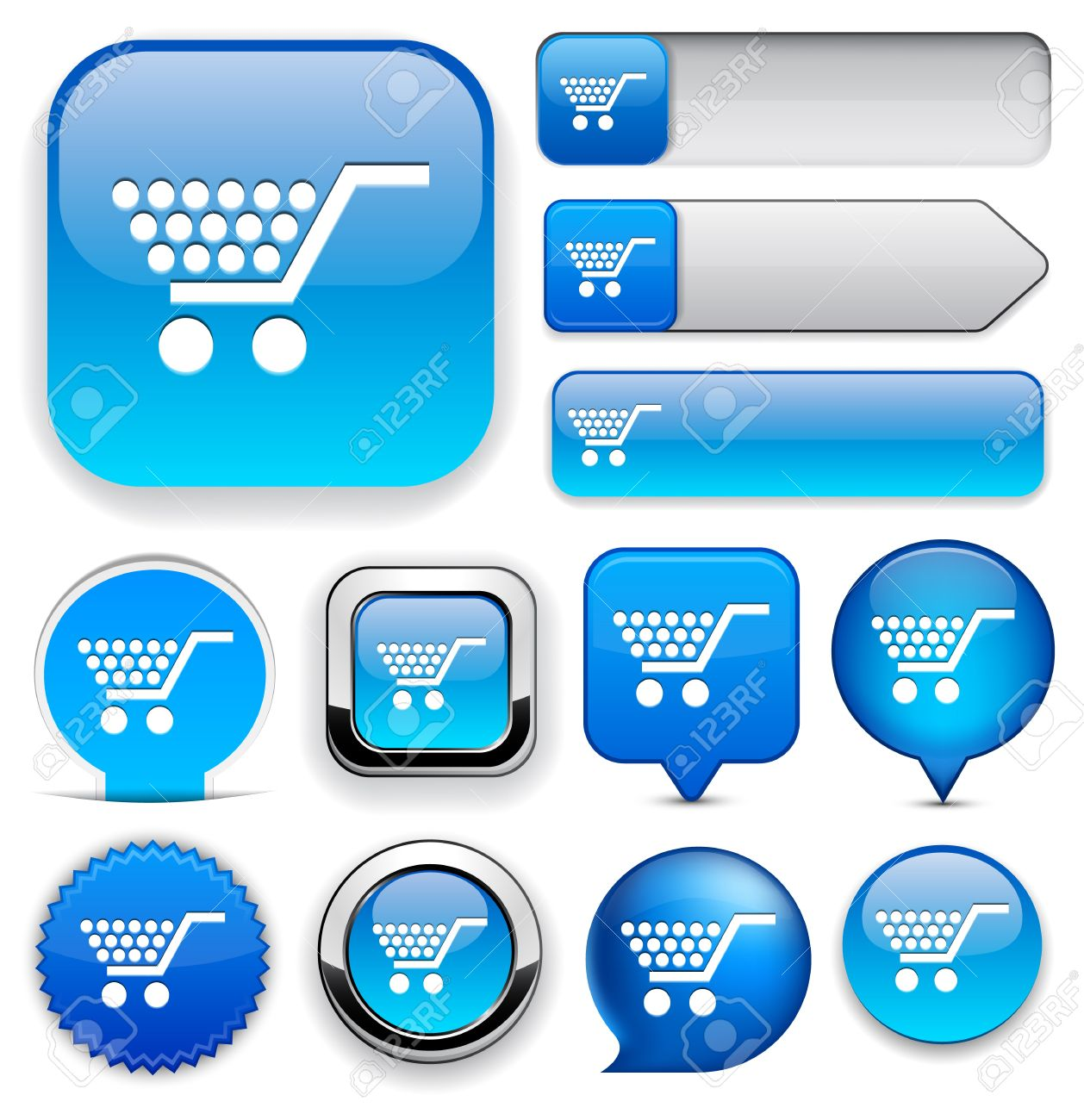 Buy blue design elements for website or app Stock Vector - 12758171