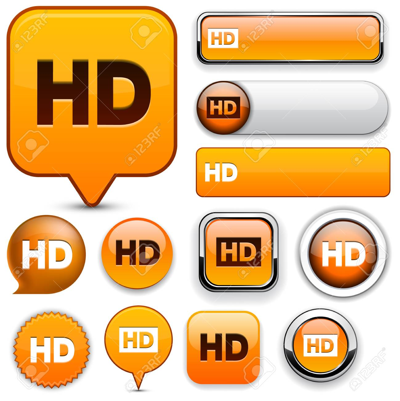 HD orange design elements for website or app  Vector eps10 Stock Vector - 12856732