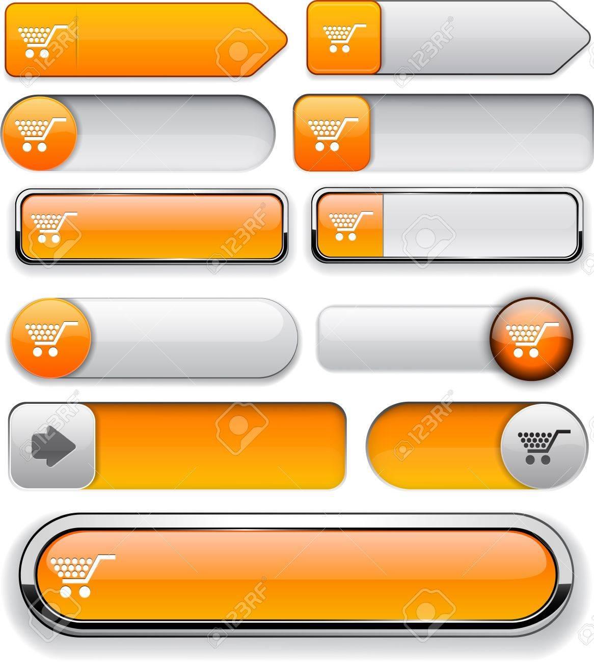 Buy orange design elements for website or app. Stock Vector - 13000082