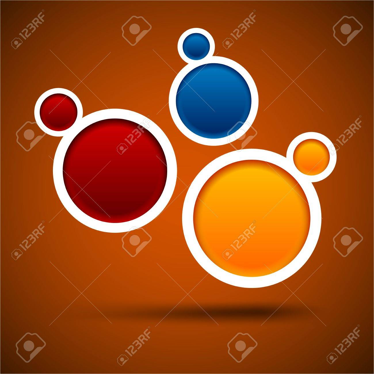 Abstract color background contains of round bubbles. Stock Vector - 14572798
