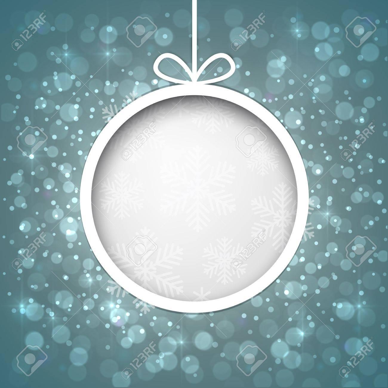Glowing shiny christmas ball background  Vector eps10 Stock Vector - 16279378
