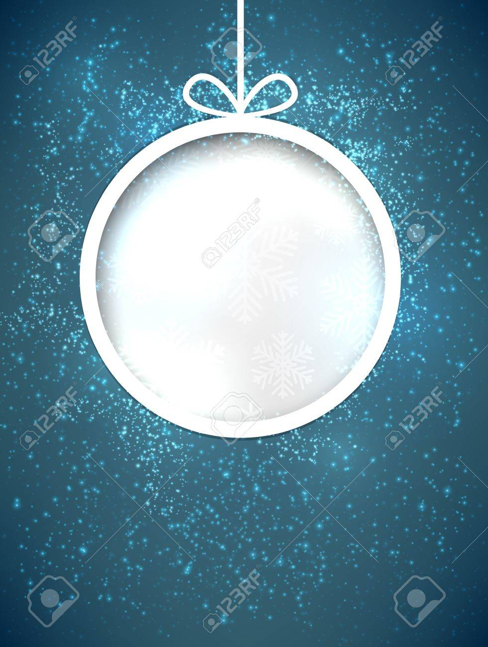 Glowing shiny christmas ball background. Vector eps10. Stock Vector - 16855623
