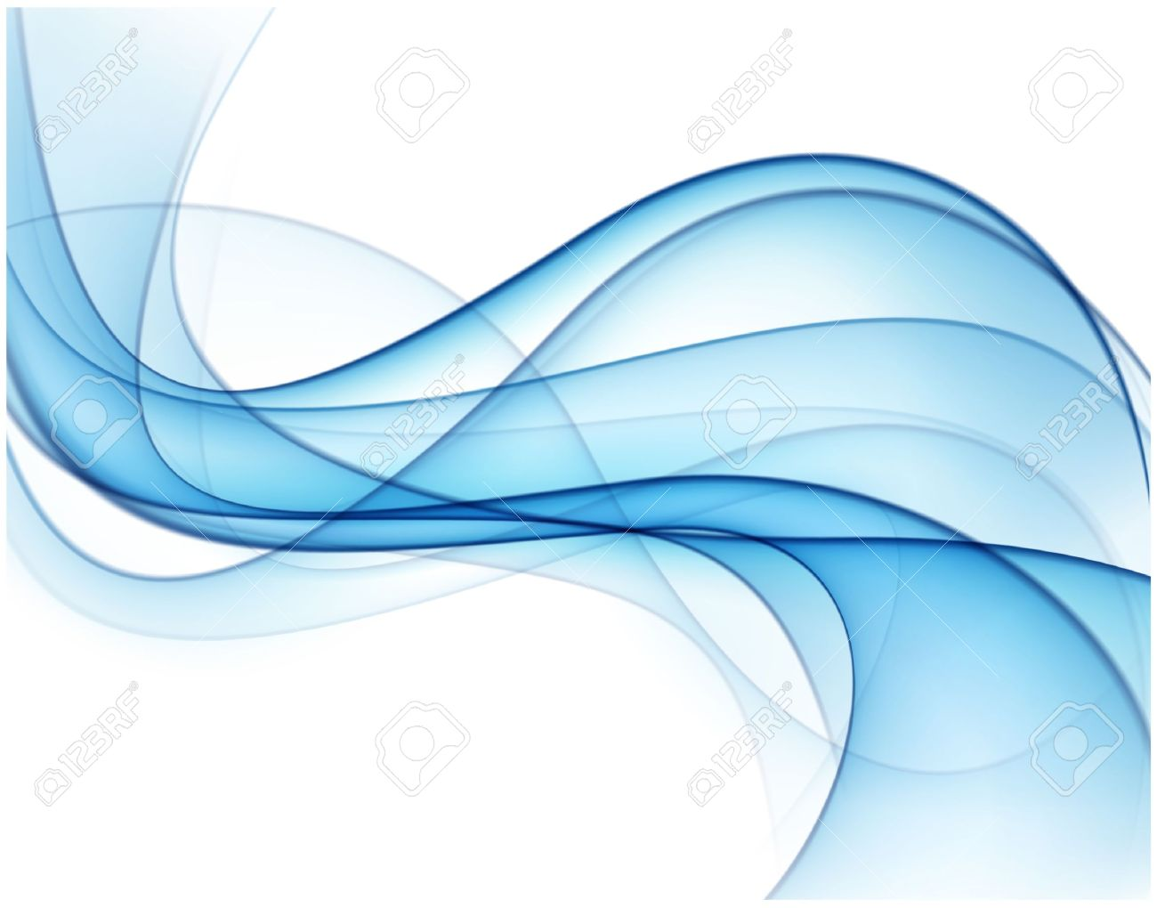 Vector Illustration Of Abstract Blue Smoke Background Eps10