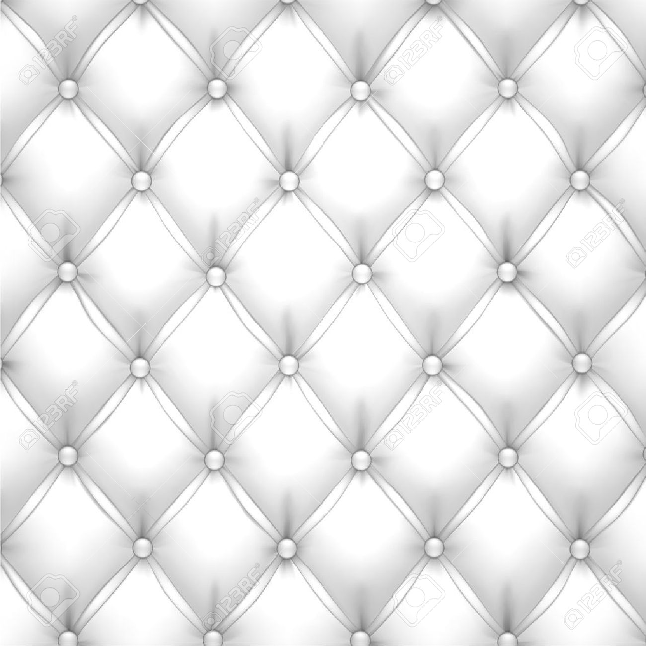 Leather cushion texture - Vector Vector Illustration Of White Realistic Upholstery Leather Pattern Background Eps10