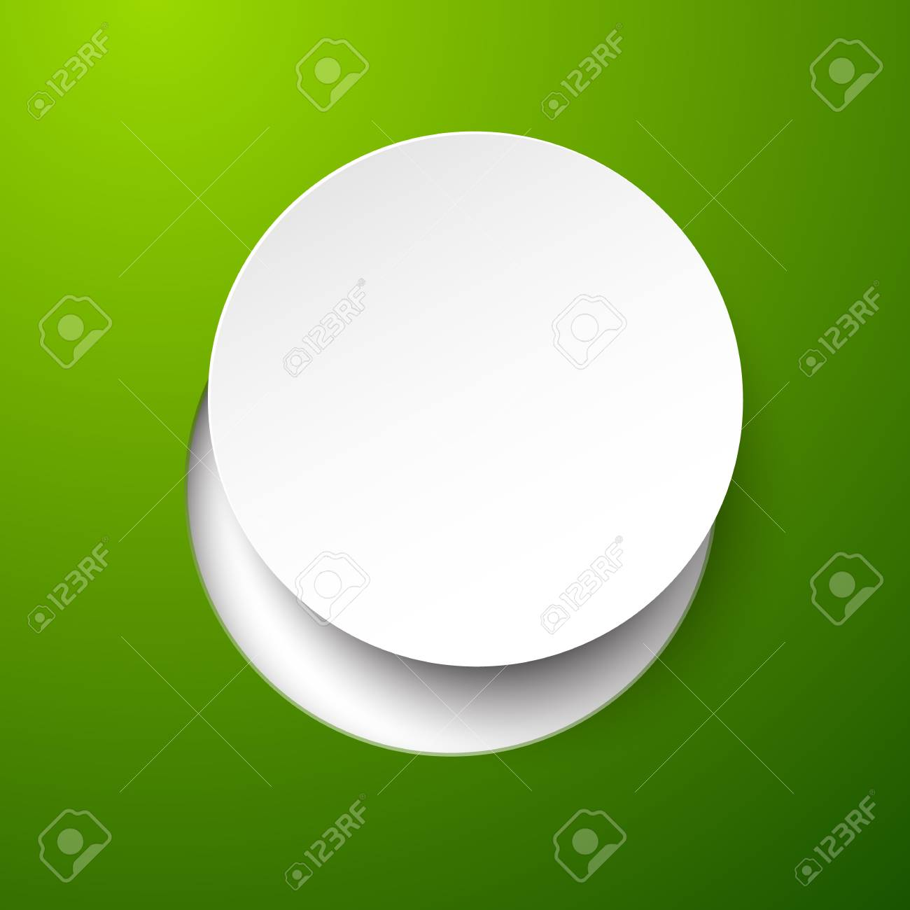 Vector abstract illustration composed of white paper round note over green background  Eps10 Stock Vector - 17191341