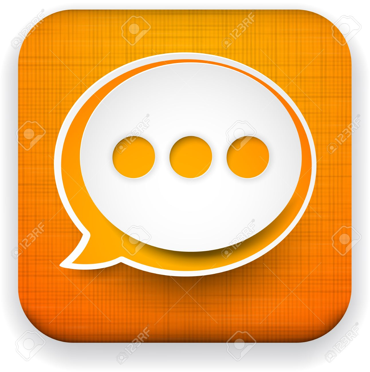 Vector illustration of high-detailed linen app speech bubble icon template. Eps10. Stock Vector - 17359385