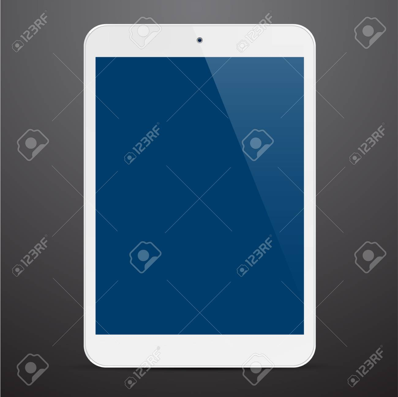 illustration of white modern realistic tablet pad with empty white screen. Stock Vector - 19896867