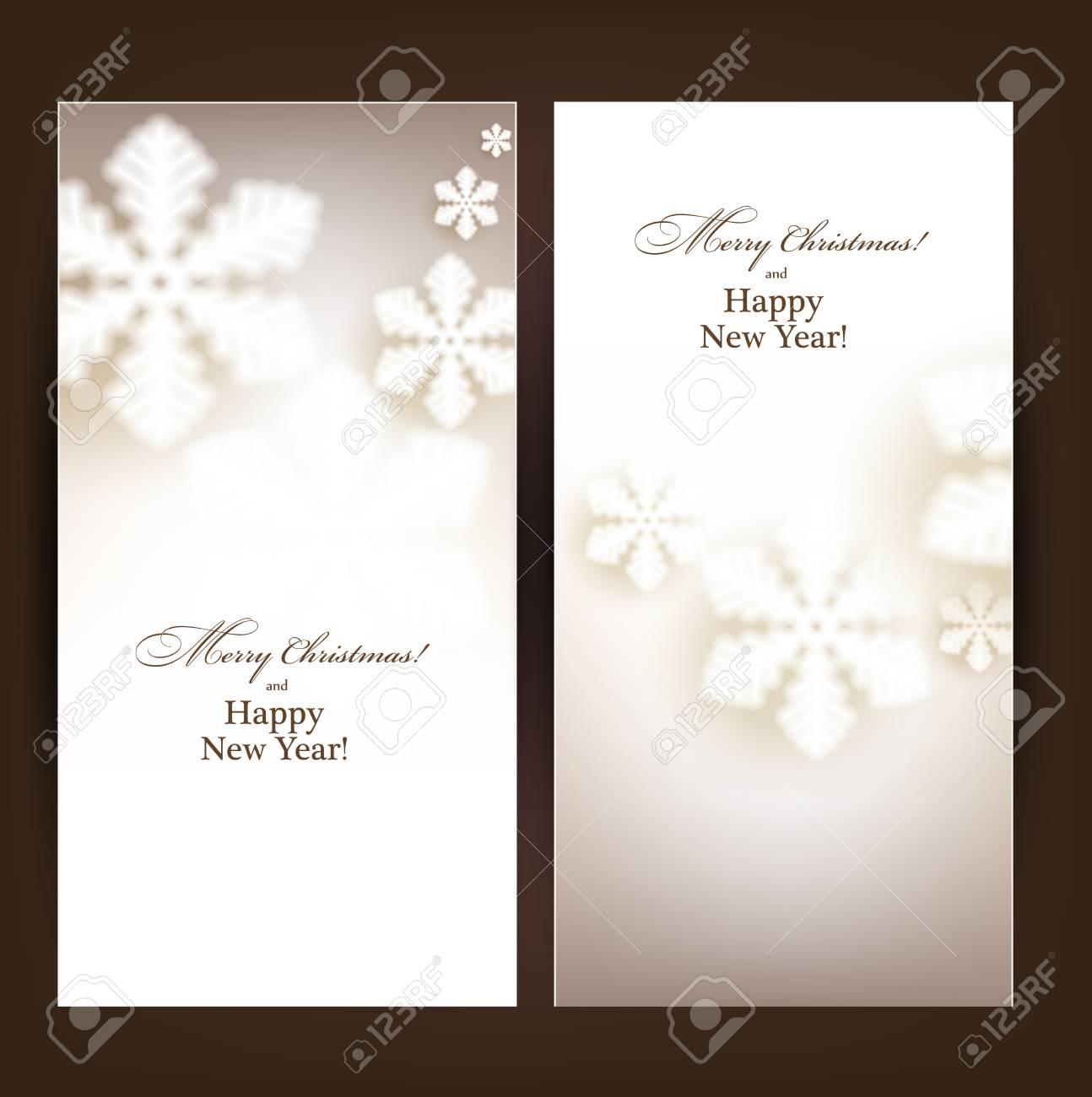 Winter banners. Fallen defocused snowflakes. Christmas. Vector. Stock Vector - 22497808