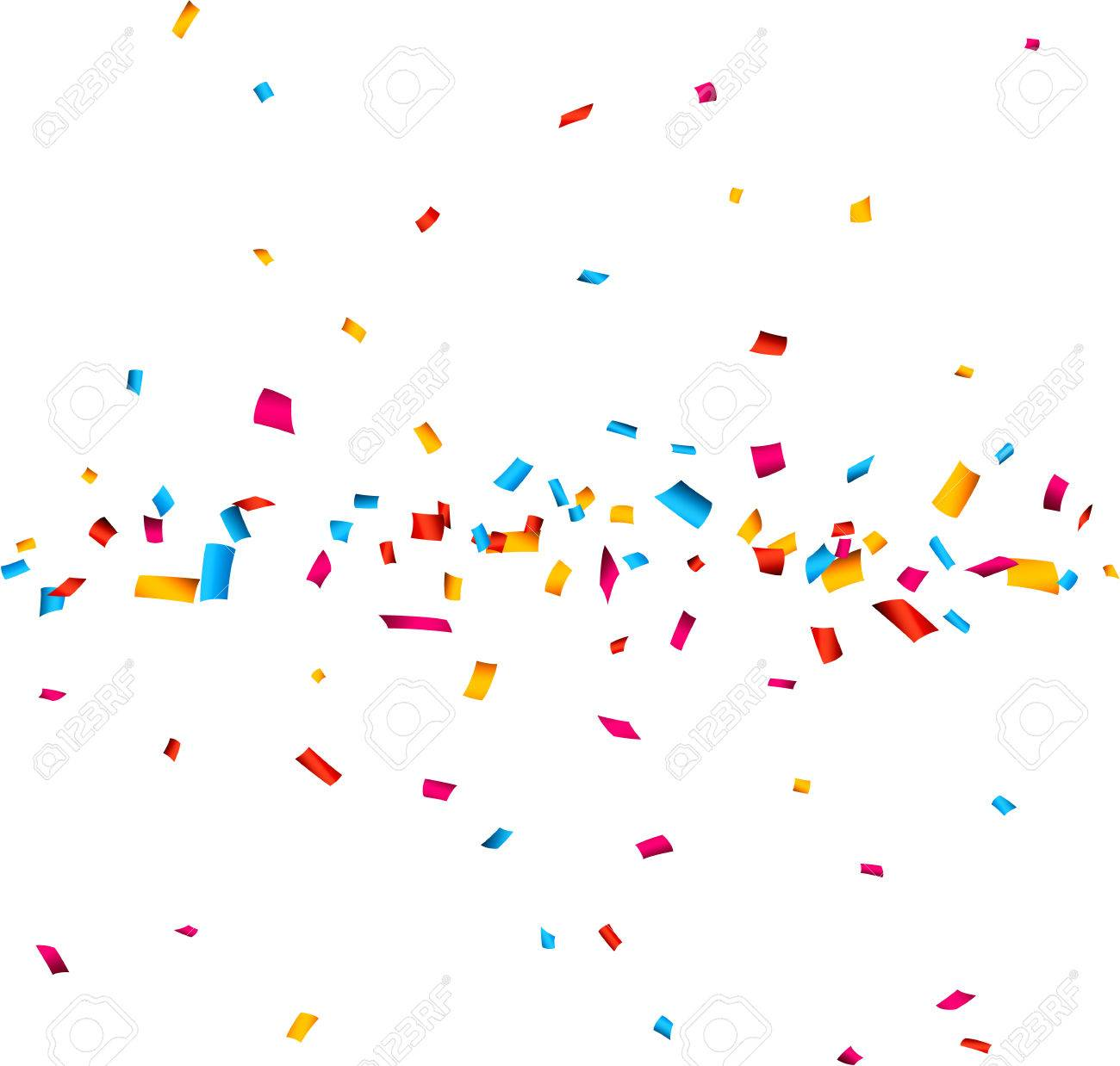 colorful celebration background with confetti vector illustration