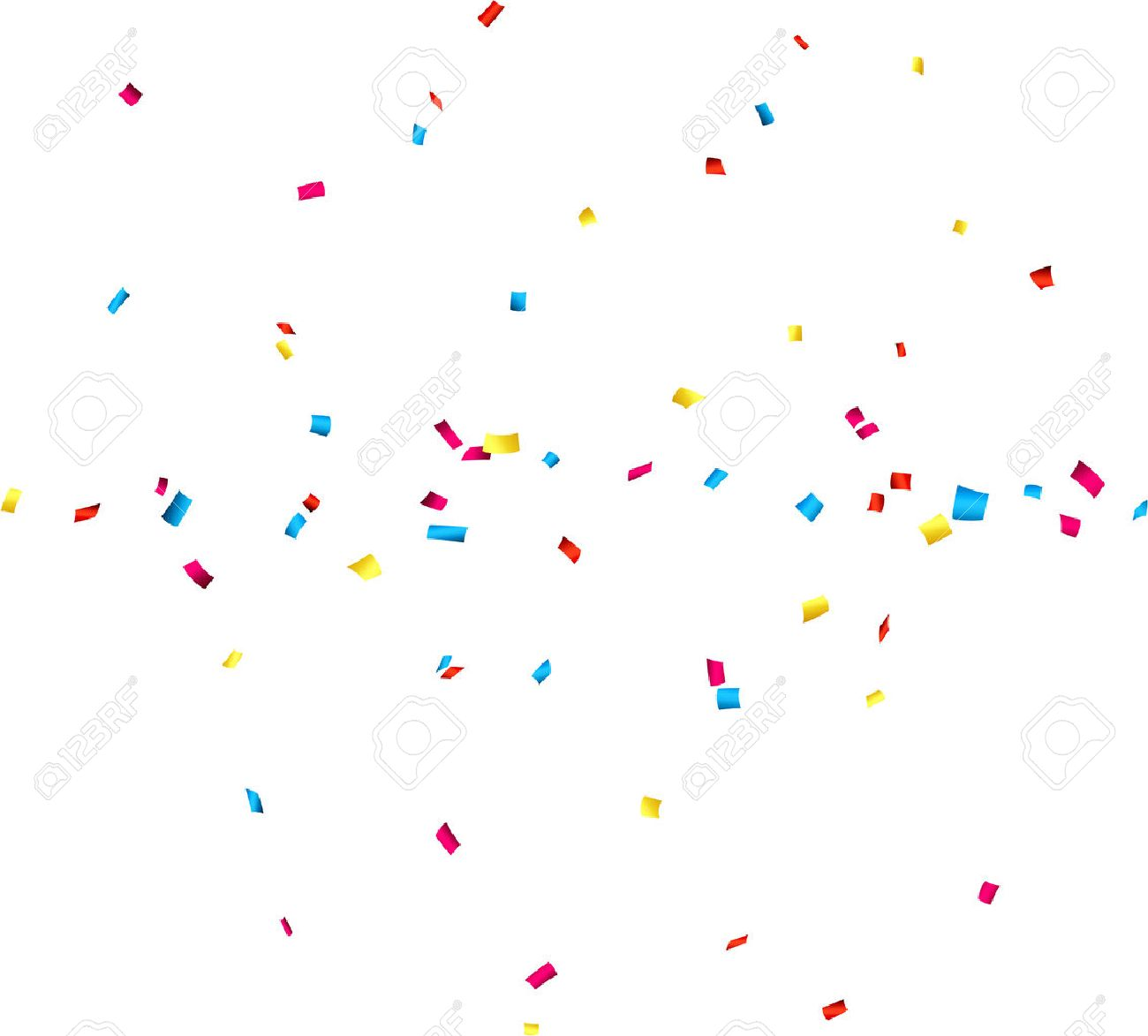 colorful celebration background with confetti vector illustration rh 123rf com confetti vector freepik confetti vector background free