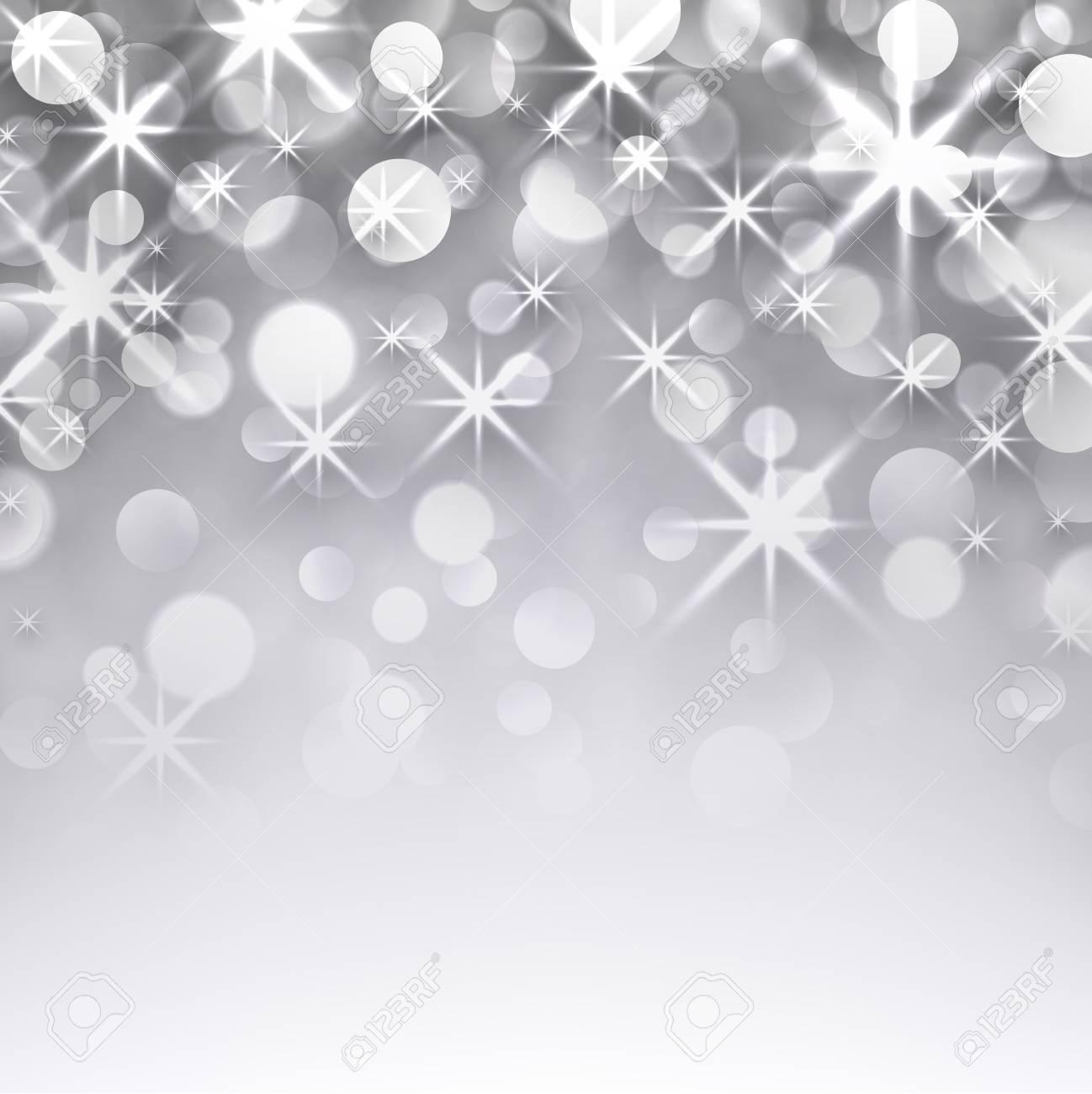 fond carte de voeux Argent Fond De Noël étoilé. Carte De Voeux. Vector Illustration