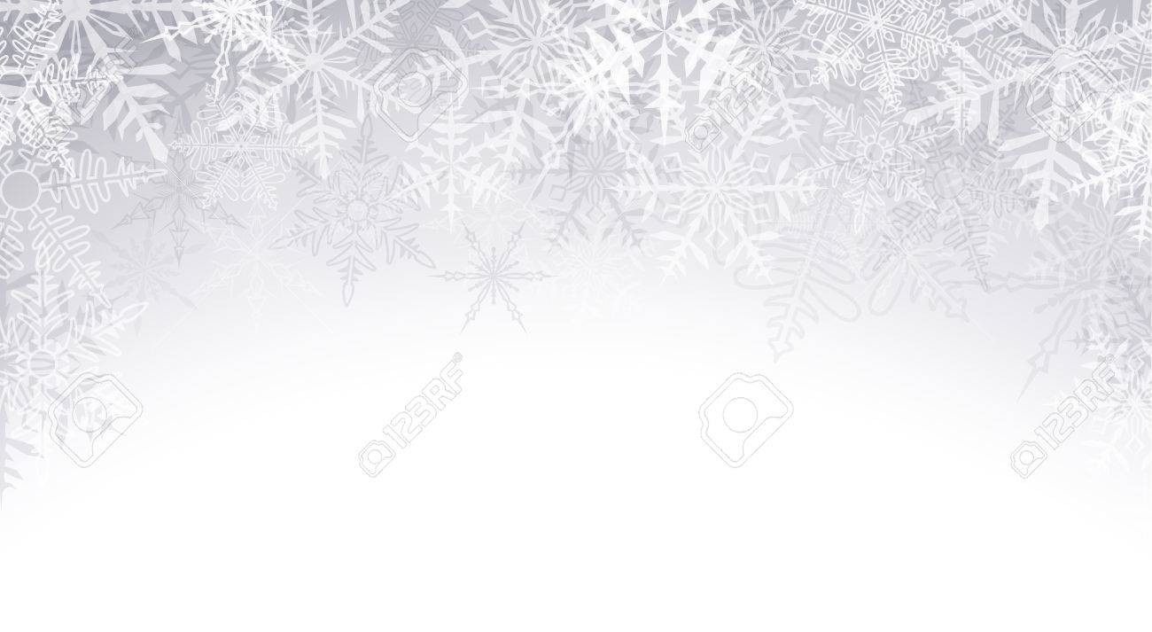 Christmas Background Vector.Winter Pattern With Crystallic Snowflakes Christmas Background
