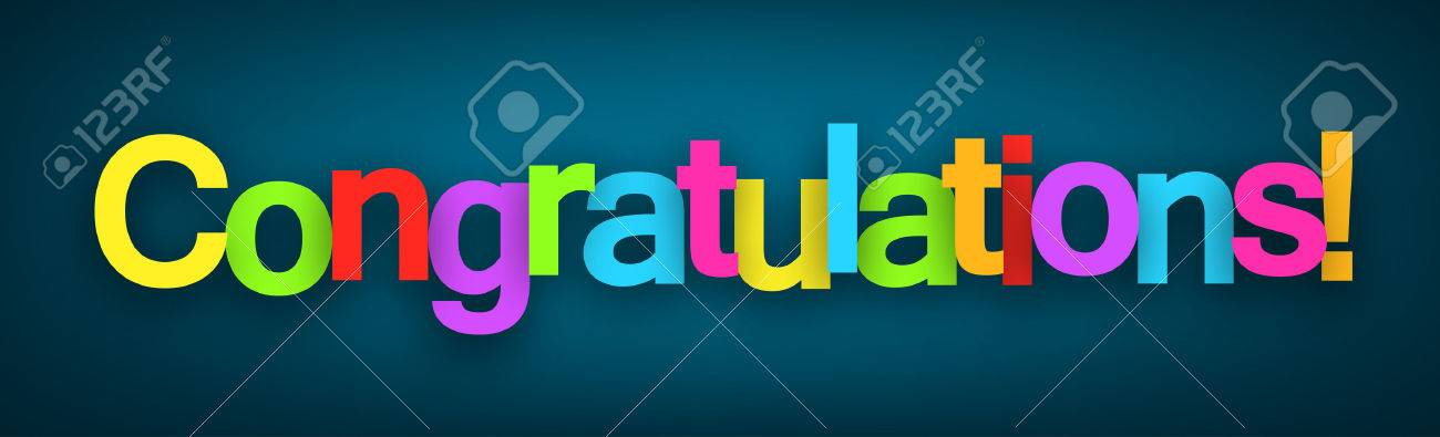 Colorful Congratulations sign over dark blue background. Vector illustration. - 43320840