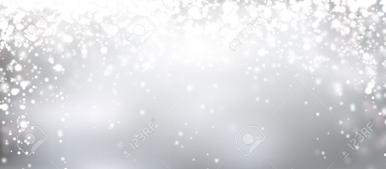 Silver Winter Abstract Background. Christmas Background With ...