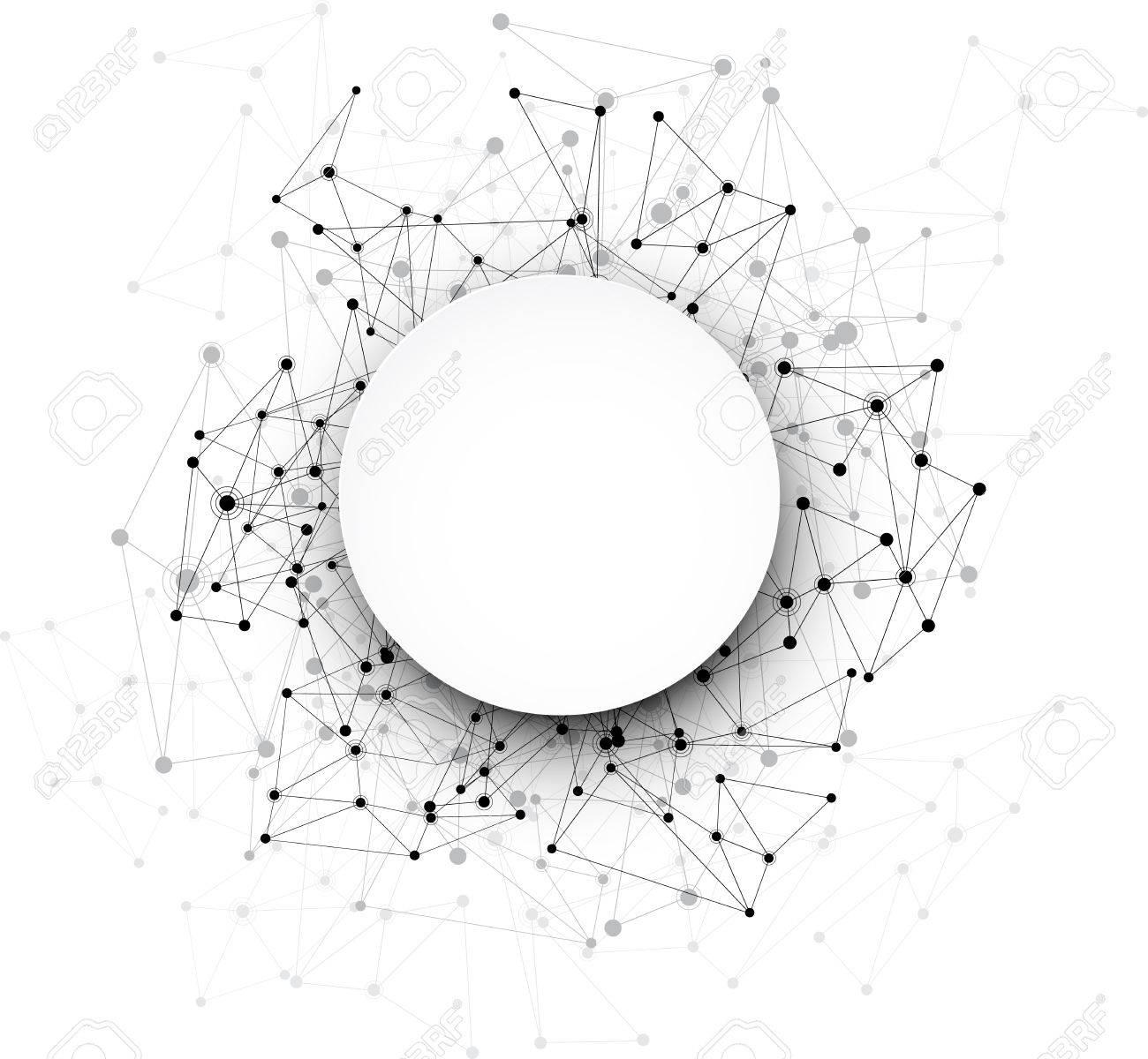 Global communication round background. Vector Illustration. Stock Vector - 45559954