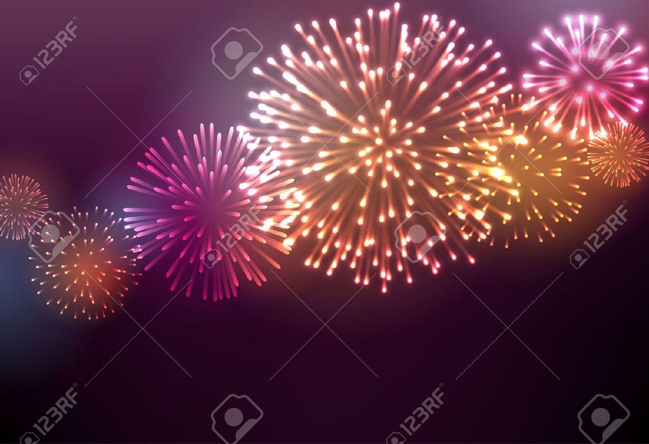 Festive colour firework background Stock Vector - 46289315