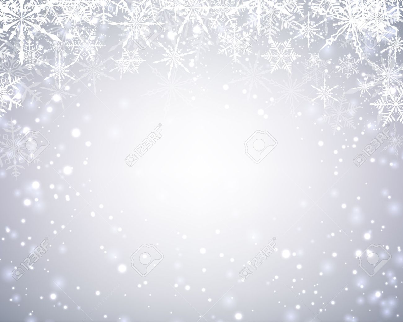 Winter card with snowflakes. Vector paper illustration. - 48364946