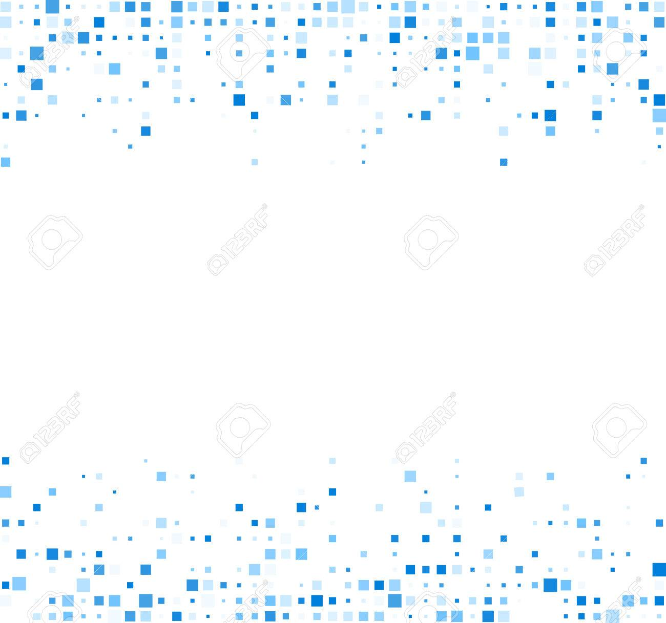 White abstract background with blue squares. Vector illustration. - 50794485