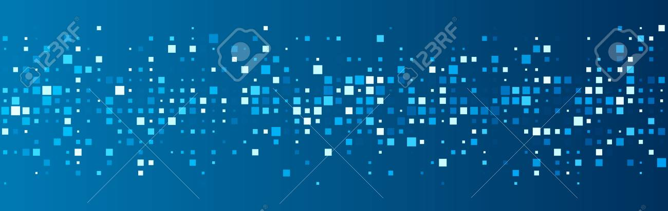 Blue abstract background with squares. Vector paper illustration. - 51018021