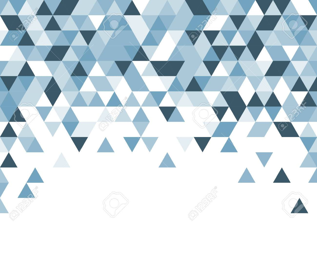 White abstract background with blue triangles. Vector illustration. - 53629644