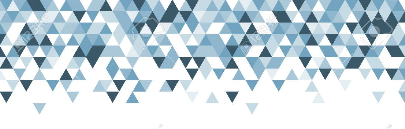 White abstract banner with blue triangles. Vector illustration. - 53629694