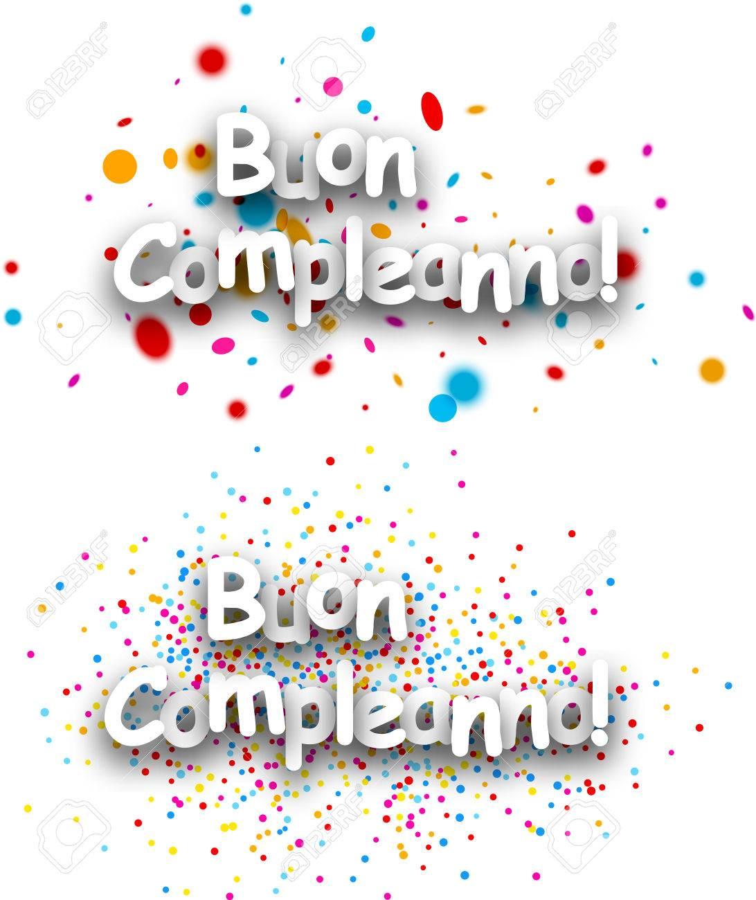 Happy Bannieres De Papier D Anniversaire Avec Des Gouttes De Couleur