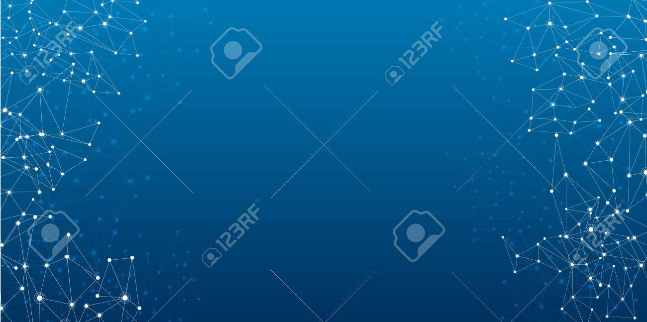 Global communications abstract blue banner. Vector paper illustration. - 59941776