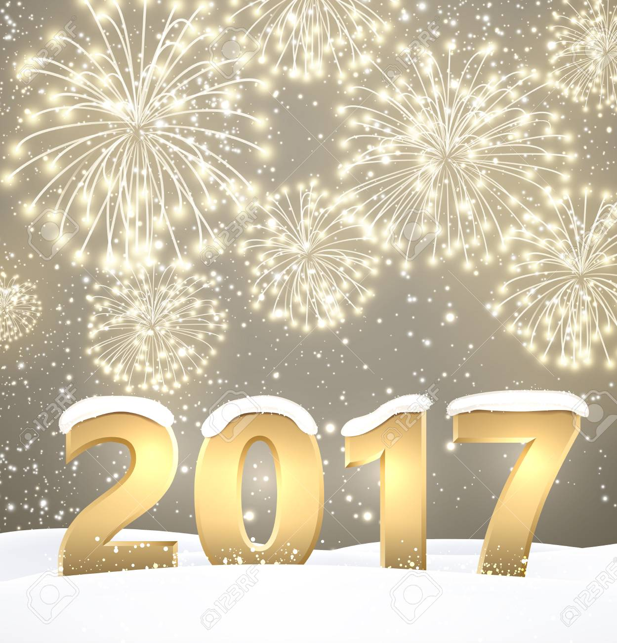 gray 2017 new year background with fireworks vector illustration stock vector 67133903