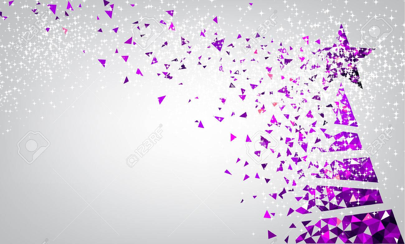 new year background with purple christmas tree vector illustration stock vector 67133972