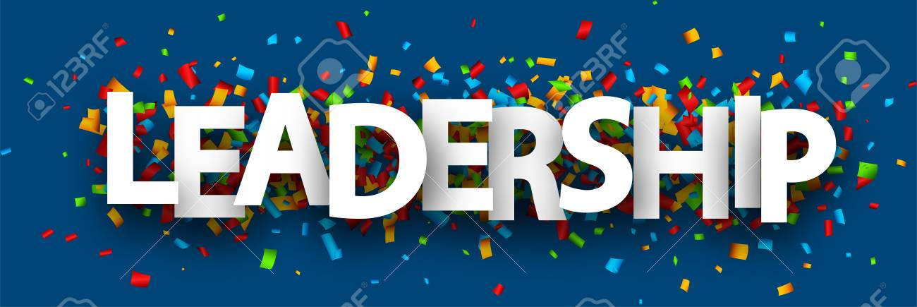 Blue Leadership Banner With Colorful Paper Confetti Vector Background Royalty Free Cliparts Vectors And Stock Illustration Image 111279923