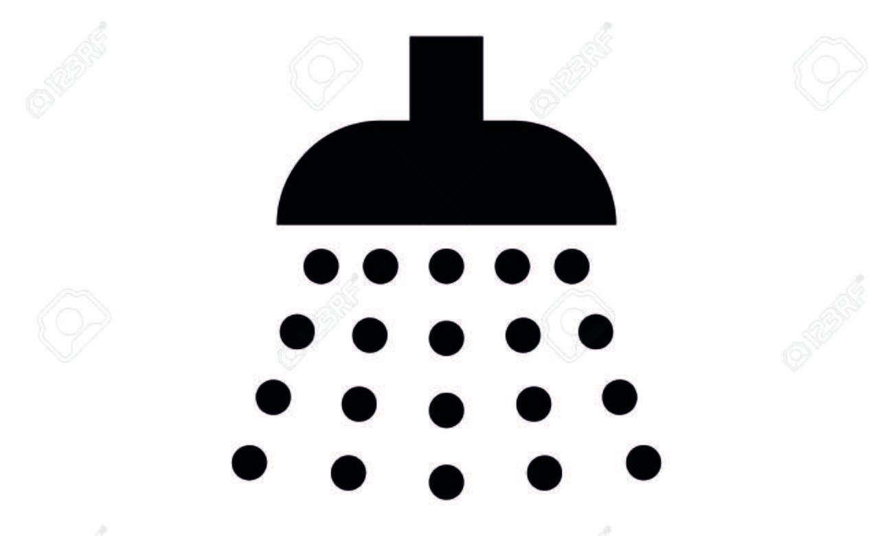 Duschkopf clipart  Piktogramm - Dusche, Dusche, Duschkopf, Wasser, Waschen, Regen ...