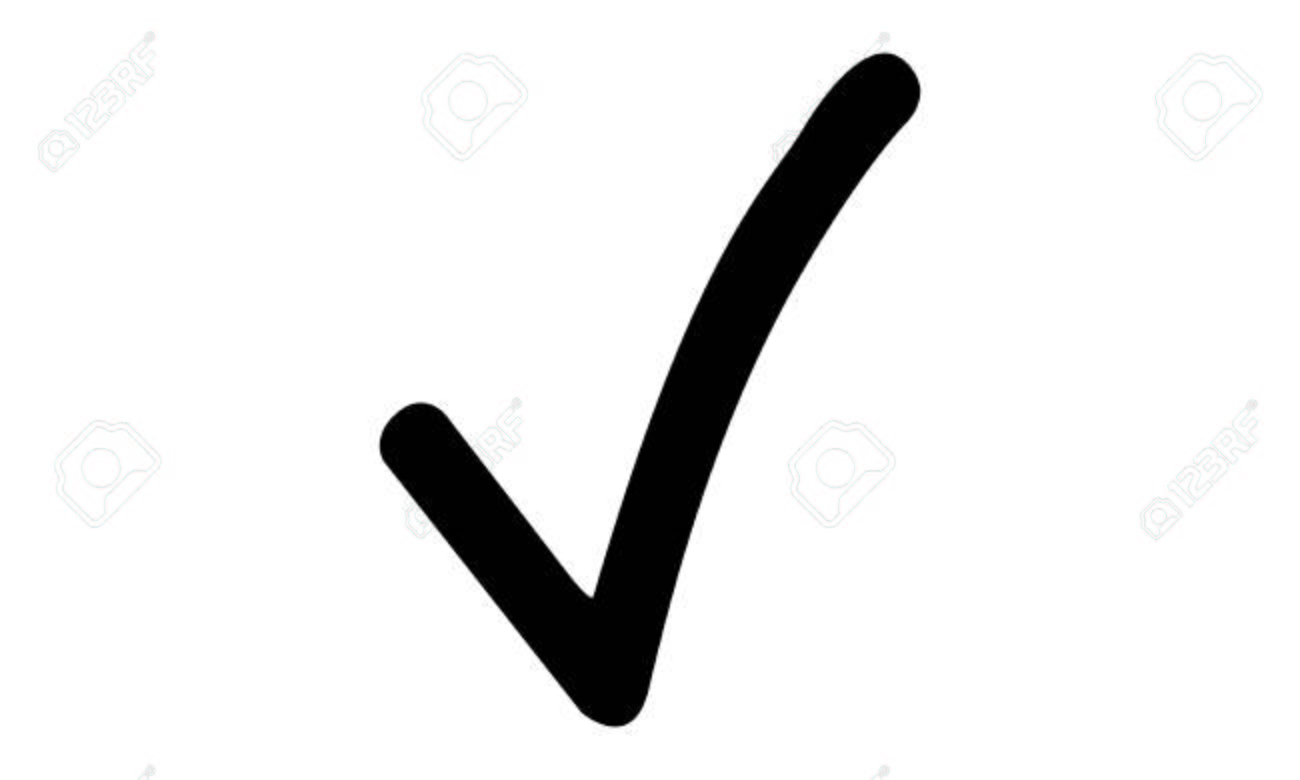 Pictogram Check Checkmark Hooklet Tick Tickmark Object Icon