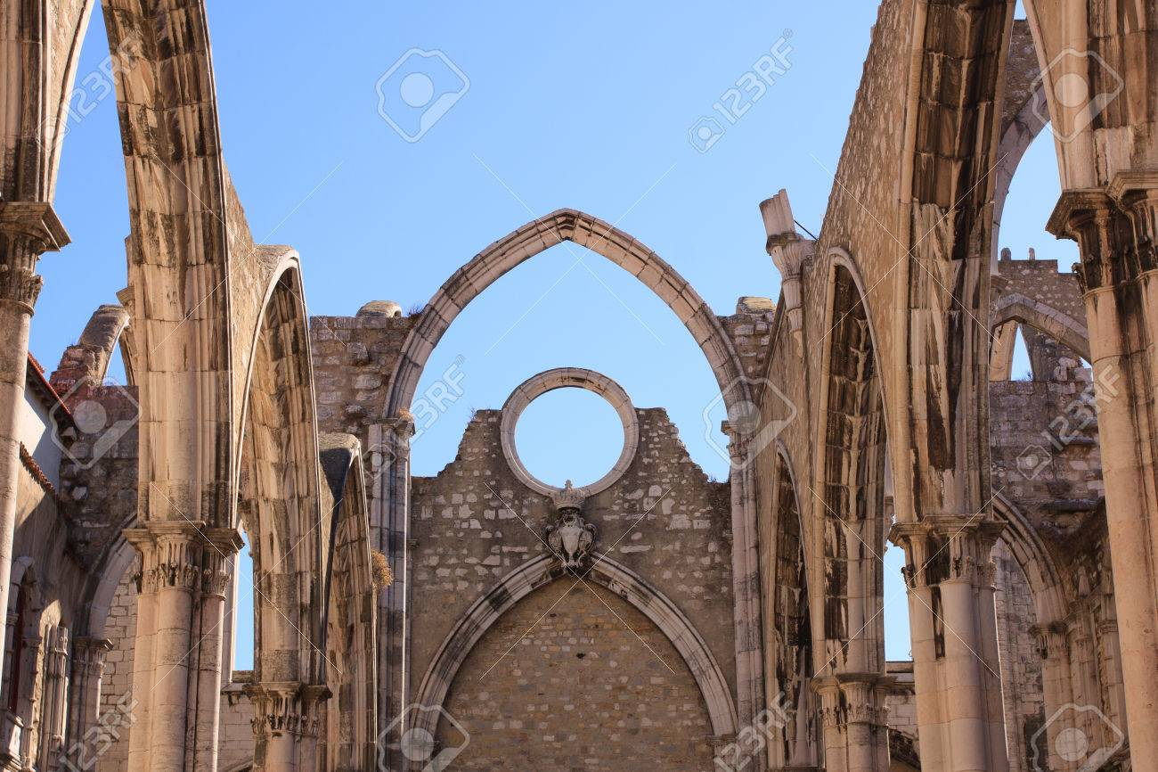 Open Roof Of Gothic Church Our Lady Mount Carmel In Portuguese Igreja Do