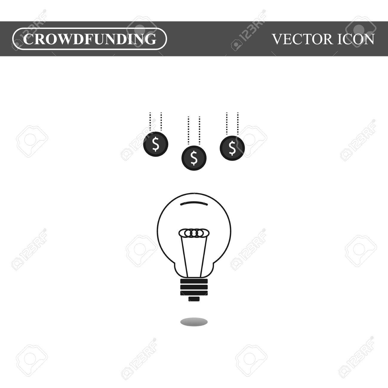 crowdfunding icon on white background crowdsourcing icon concept