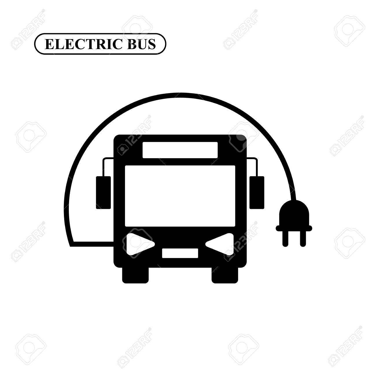 Elektrische Bus-Vektor-Symbol Lizenzfrei Nutzbare Vektorgrafiken ...