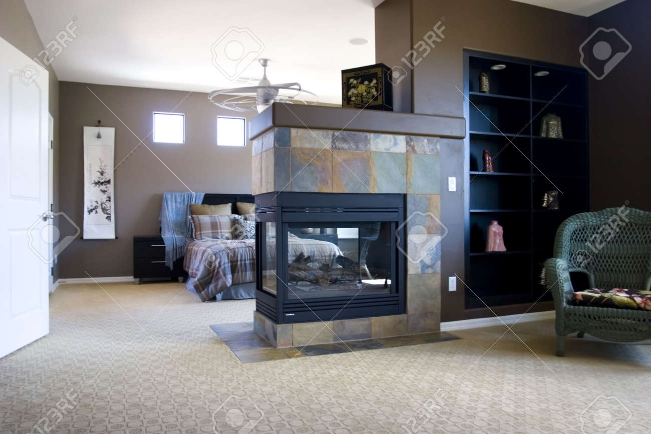 Modern tastefully decorated master bedroom Stock Photo - 1328357